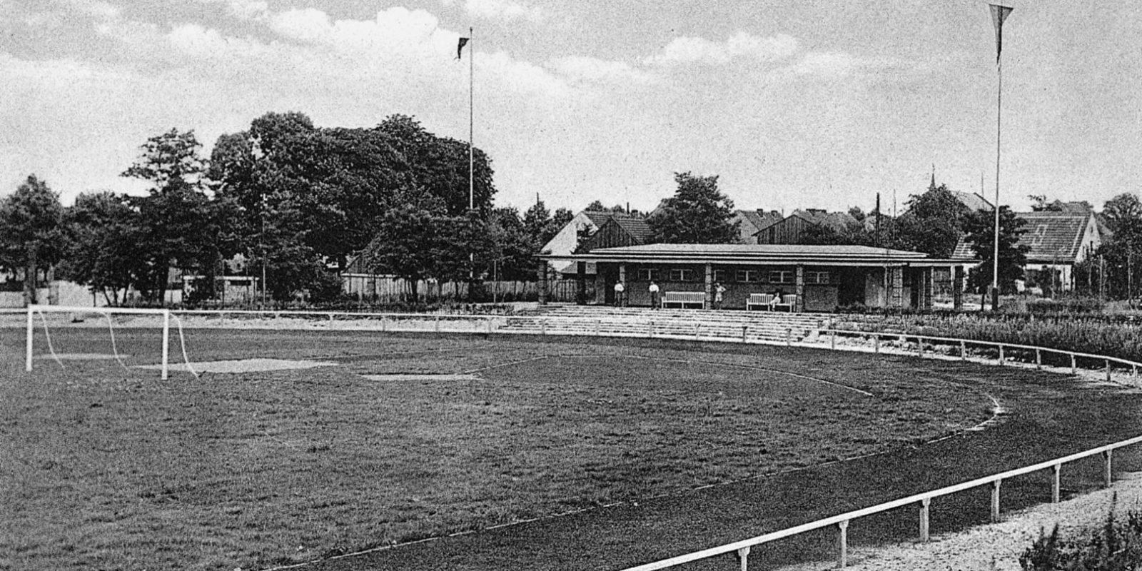 Sportplatz Wandlitz im Jahre 1931 kurz nach seiner Fertigstellung